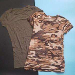 Army style short sleeve t-shirts   mini bundle